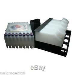 100% Brand New Roland Bulk Ink System 4 Bottles, 8 Cartridges