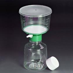 12/pack 500ml Sterile Bottle Vacuum Filter System Units 0.22m PES Membrane Lab