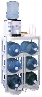 5 Gallon Water Bottle Container Storage System Rack Organizer Divider Holder New