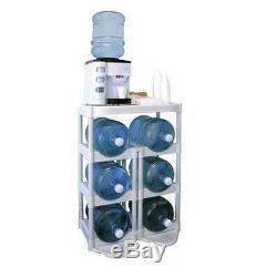 5 Gallon Water Bottle Rack Display Stand Bottles Holder Storage System Organizer