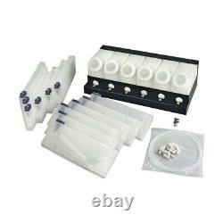 6 Bottles, 12 Cartridges for Roland Continuous Bulk Ink Supply System CISS