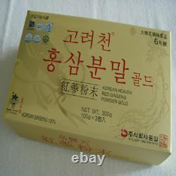 6-YEARS KOREAN HEAVEN RED GINSENG POWDER GOLD(100g3Bottles)/Aphrodisiac Herb