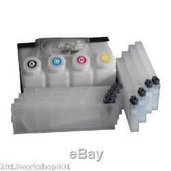 BEL! Roland Bulk Ink System for Roland Mimaki Mutoh - 4 Bottles, 8 Cartridge