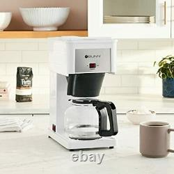 BUNN GRW Velocity Brew 10-Cup Home Coffee Brewer White
