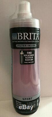Brita Sport Bottle Water Filtration System with1 Filter BPA Free, New Sealed 20 oz