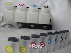 Bulk Ink System 4 Bottle 8 Cartridge Continuous for Roland FH-740 / XF640/XR-640