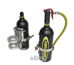 CO2 Bottle Power Trigger Two Bottle Bracket System Matte Black Power Tank