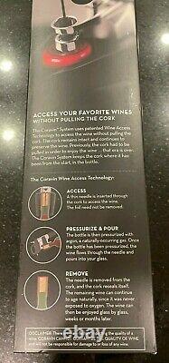 Coravin 1000 Pressurize Pour Wine System Bottle Opener Sealer Taster Preserver