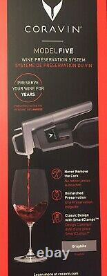 Coravin Model Five, 5 Wine Preservation System, Graphite, New And Unopened