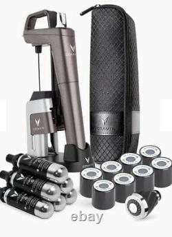 Coravin Model Six Advanced Wine Bottle Opener and Preservation System, Mica