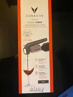 Coravin Model Three Wine Preservation System, Black, New