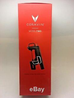 Coravin Wine Bottle Opener Pourer Preservation System Model Two 2 Black, New