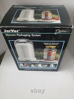 Deni JarVac Vacuum Seal Packaging System Glass Jars Bottles Bowls New