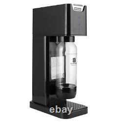 Drink Soda Bubble Sparkling Water Maker Dispenser Auto Exhaust System 2 Bottles