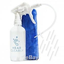 Ear Cleaning Kit Wax Remover Irrigation Tool Spray Bottle Flush System NEW