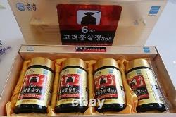 Express Korean Red Ginseng 6 Years Extract Root 240g 4 Bottles Saponin Panax