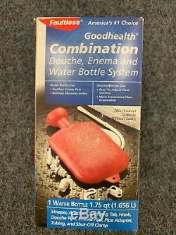Faultless Goodhealth Combination Douche Enema Water Bottle System Latex Free New
