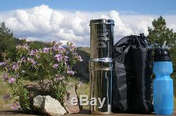 Go Berkey Kit + Sport Bottle + Berkey Primer Original Berkey Water Filter System