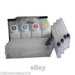 HOT! Roland Bulk Ink System for Roland Mimaki Mutoh -4 Bottles, 8 Cartridge