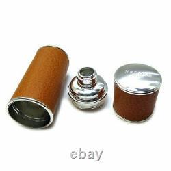 Hermes Refilabtmyser Razor Brown System Silver Fittings Perfume Bottles Case