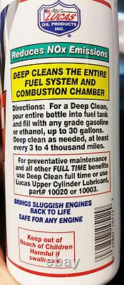 Lucas 10512 Deep Clean Fuel System Cleaner Box Of 12 Bottles