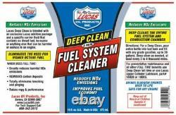 Lucas Oil 10512 Set of 12 Deep Clean Fuel System Cleaner 16 Ounce Bottles