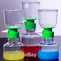 MS 500ml PES Sterile Top Filter Cup Bottle System Vacuum Disposable 0.22m 4pcs
