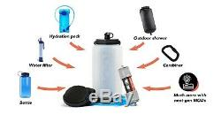Modl Outdoors Complete Hydration System Water Filter Shower MODL Bottle + 4 MODs