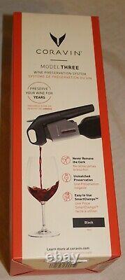 NEW Coravin Model Three Advanced Wine Bottle Opener & Preservation System