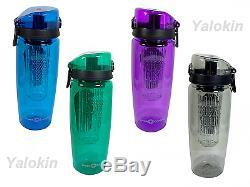 NEW Premium Fruit Infuser Water Bottle 1 Liter 32 Oz w Locking System BPA Free