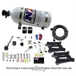 NITROUSNX 30240-10 Nitrous System 10 lb Bottle Dual/4150 4-Barrel/Gas 50-100-150