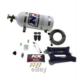 NITROUSNX 40040-10 Nitrous Oxide System Hitman Wet 100-200 hp 10 lb. Bottle Whit