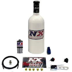 NITROUSNX Nitrous Oxide System Incognito Dry 10-25 hp 1.4 lb. Bottle White Carb