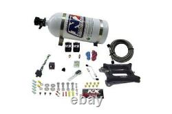NX 4150 4-BBL Pro-Power Nitrous Plate System Gasoline 100-500HP With 10LB Bottle