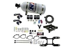 NX 4150 Dual Stage Billet Crossbar Plate Nitrous System 50-800HP With 10LB Bottle