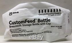 New Abbott Custom Feeding System Breastmilk Storage Bottle With Cap 60ml