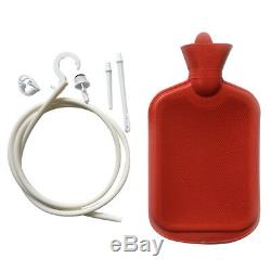 New Enema System Kit with Hot Water Bottle Douche Bag Tubing and Attachments 2L
