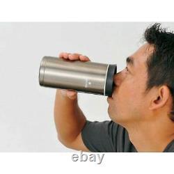 New Snow Peak system bottle 500 dark silver TW-071R-DS F/S from Japan