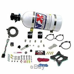 Nitrous Express 20946-10 50-150 HP 2-Valve Plate System with 10 lbs. Bottle for