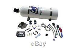 Nitrous Express SX2D Dual Stage Diesel System Kit Progressive Cont 15lb Bottle