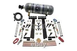 Nitrous Express v6 6cyl SX2 Dual Stage Nozzle System 12LB Bottle NX-90096-12