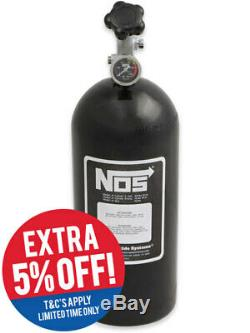 Nitrous Oxide Systems NOS Bottle, 10 Lb Bottle, WithSuper Hi-Flo, Bl (14745BNOS)