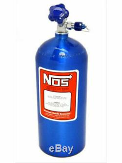Nitrous Oxide Systems NOS Nitrous Bottle, 10 Lbs, Aluminum, Blu (14745-TPINOS)
