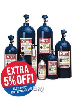 Nitrous Oxide Systems NOS Nitrous Bottle 10Oz, (Aluminium) 14.25 X (14700NOS)