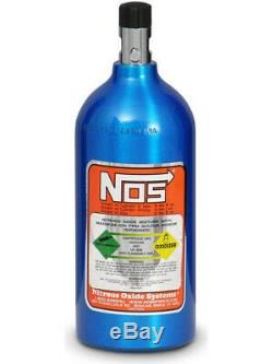 Nitrous Oxide Systems NOS Nitrous Bottle 2.5-Lb, (Electric Blue) 11 (14720NOS)