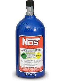 Nitrous Oxide Systems NOS Nitrous Bottle 2-Lb, (Electric Blue) 10.2 (14710NOS)