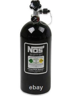 Nitrous Oxide Systems Nitrous Bottle 10-lb. With Racer Safety Black (14745B-TPI)