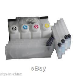 OEM Mutoh Bulk Ink System-4 Bottles, 8 Cartridges