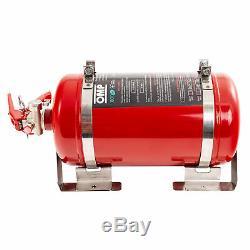OMP Black Collection 4.25L Mechanical Steel Bottle Fire Extinguisher System Red