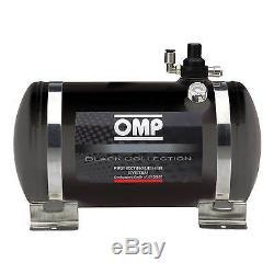 OMP Black Collection Electrical Steel Bottle Extinguisher System 4.25Ltr GT Race